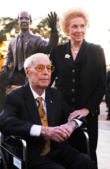 Charles and Frances at Statue Dedication