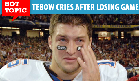 Tim Tebow Cries, Facebook Group Ridicules Him