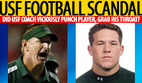 Did USF Coach Leavitt Viciously Punch His Player?