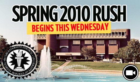 Spring 2010 Fraternity Rush Begins Wednesday