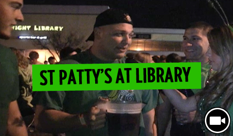 Knight Library's St. Patrick's Day Block Party