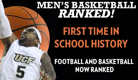 UCF Knights Nationally Ranked No. 24 In Men's Basketball