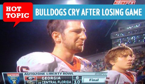 Georgia Bulldogs Cry After Losing Liberty Bowl to UCF Knights