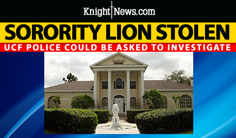 Alpha Delta Pi Lion Statue Missing, UCFPD May Investigate
