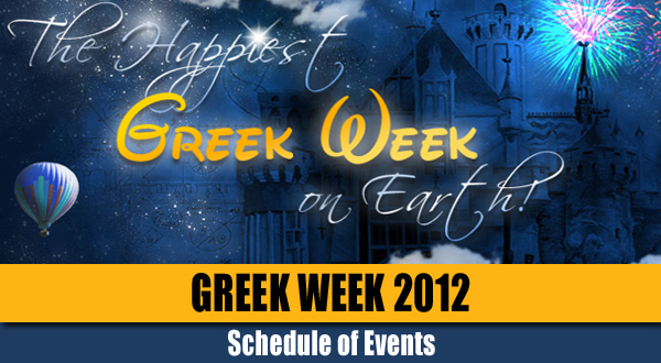 UCF Greek Week 2012 Schedule