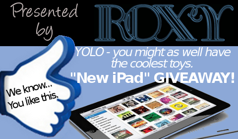 New iPad 3 HD Giveaway, Sponsored by Roxy – See How to Sign Up