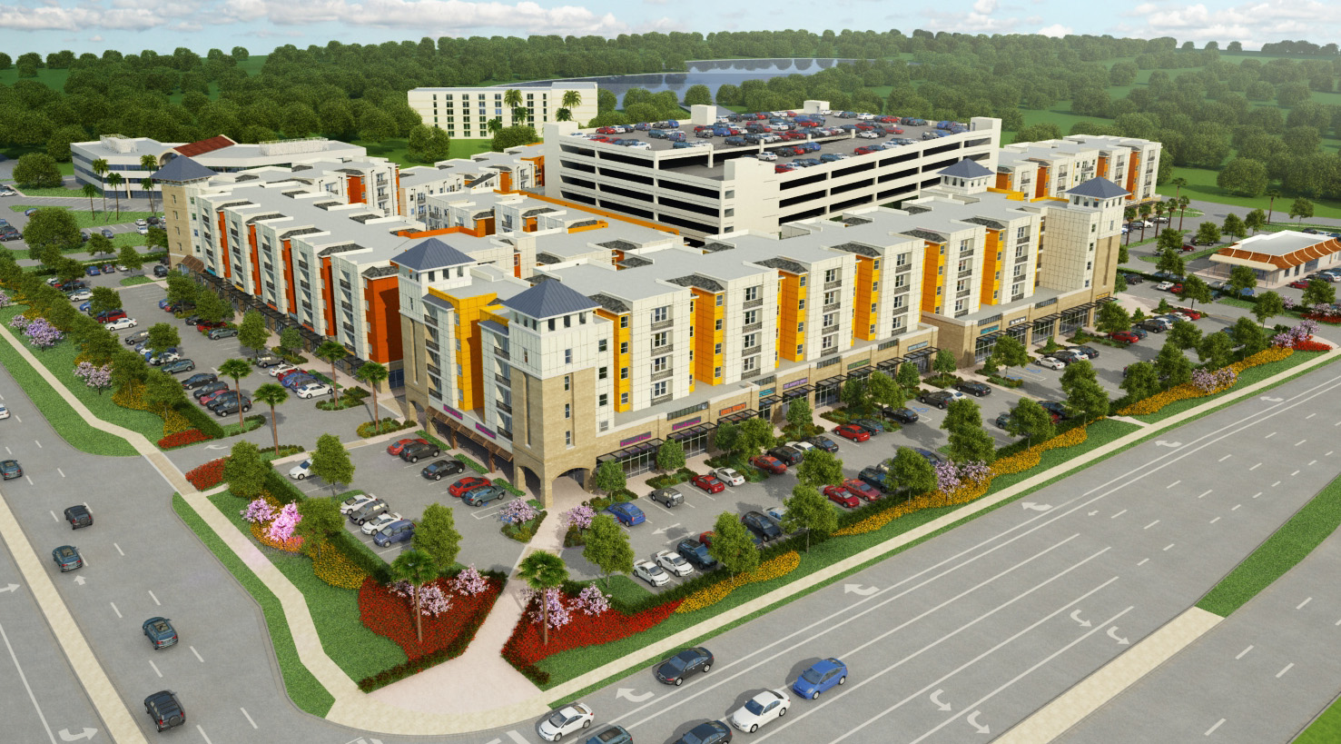 UCF&#8217;s New Plaza: See Pictures Of Planned Apartments, Retail