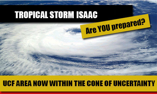 Tropical Storm Isaac Headed Towards Florida; UCF Area Inside Cone