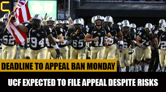 UCF Expected to Appeal Bowl Ban By Monday