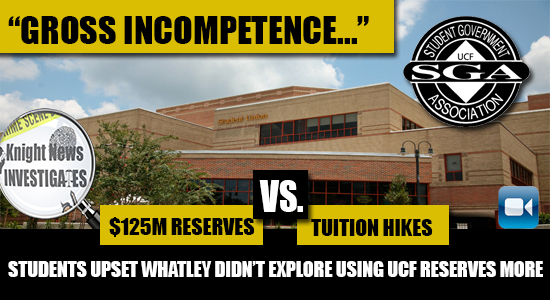 Questions About UCF's Massive Reserves Unanswered in Wake of Tuition Hikes