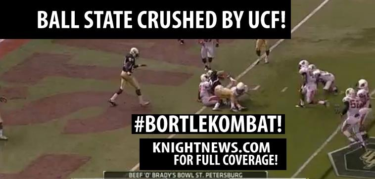 UCF Knights Dismantle Ball State 38-17, Win Beef O'Brady's Bowl