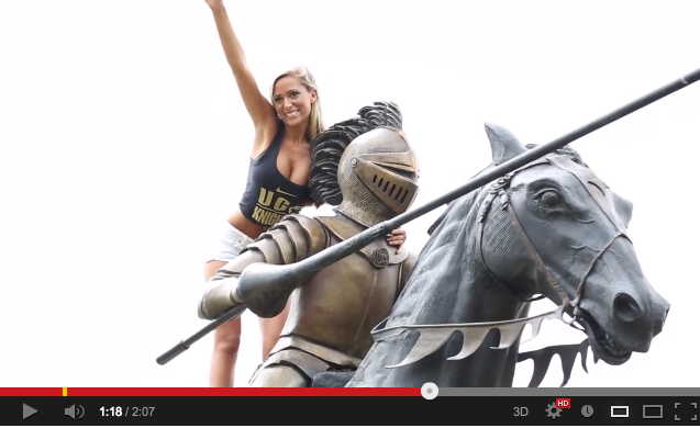 UCF QB Blake Bortles' Girlfriend, Lindsey Duke, Makes Magazine Cover | Video