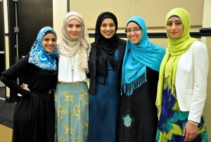 Muslim Student Association members at banquet for Fast-A-Thon.