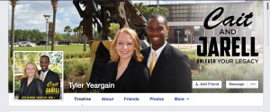 Yeargain is supporting Cait and Jarell publicly on his Facebook page.