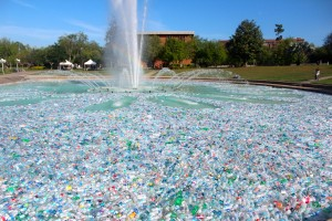 About 250,000 plastic bottles flowed through the UCF Reflecting Pond for an event titled Reflect on Sustainability. The UCF Student Government Associated teamed up with UCF Recycles and Advanced disposal to show students how much plastic waste the UCF community generates.