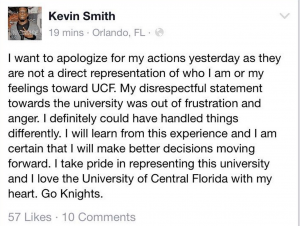 Smith issued an apology on Thursday.