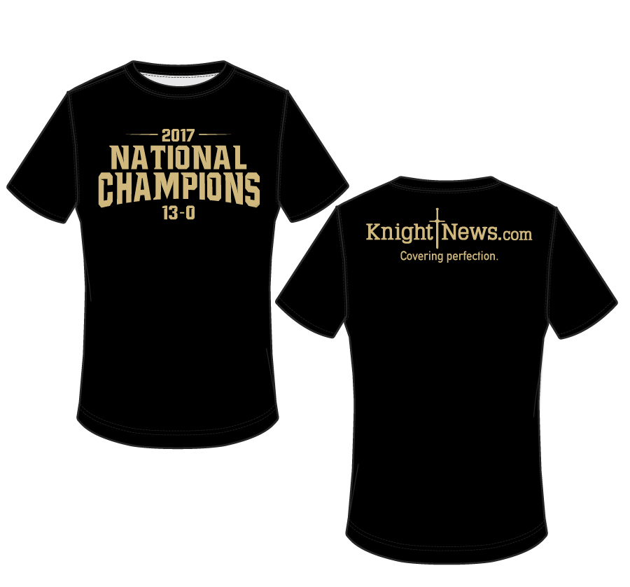 I Build Champions T Shirt: Get Your Knight News National Champion T-Shirts