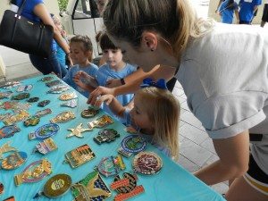 Children were able to pick out medals for their participation on April 2 at DPT's Let's Ignite, a field day for children with disabilities and their families.