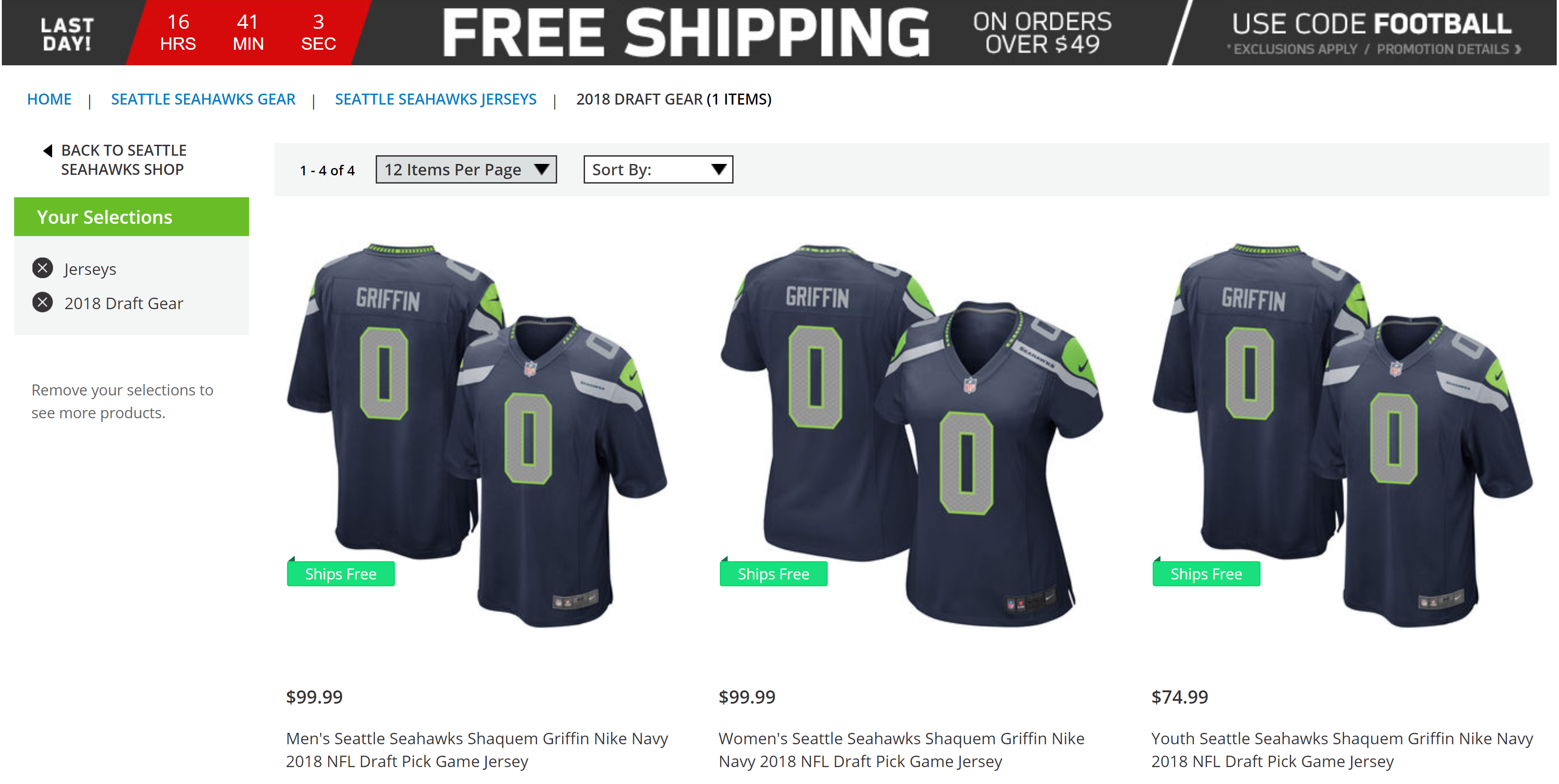 check out bc9e7 55b9c Shaquem Griffin's Seattle Seahawks Jerseys go Online ...