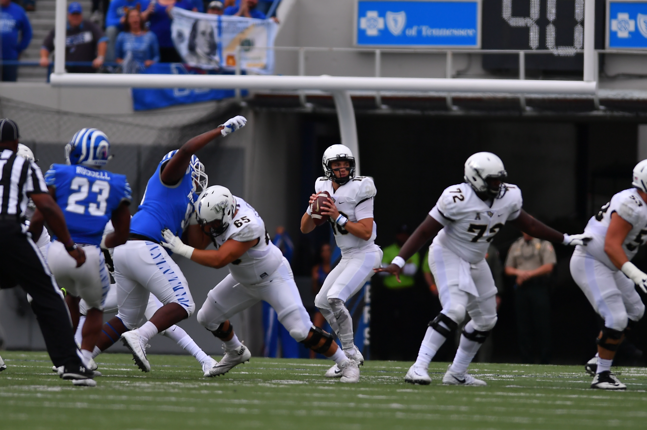 Undefeated No 10 Ucf Overcomes Adversity With Fourth Quarter Comeback In Memphis Knightnews Com