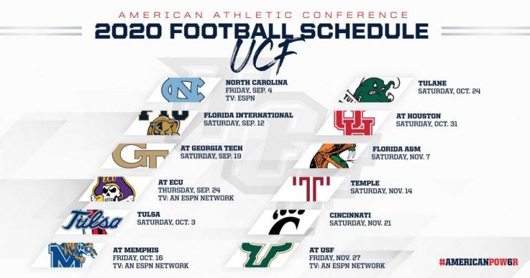 Ucf Football Schedule Released Ranked Top G5 School In Espn S Preseason Fpi Knightnews Com